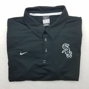 Nike Dri Fit Chicago White Sox Golf Polo Large